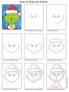 Grinch And Many Other Holiday Easy To Draw Tutorials Drawing