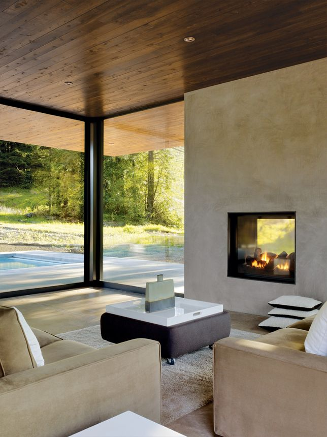 Outdoor Covered Patio With Fireplace Great Addition Idea Dream Dream Dream: Sleek Fireplace, Indoor Outdoor Fireplaces, Outside Fireplace