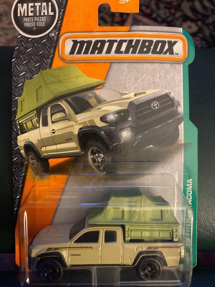 Matchbox 86 2016 Toyota Tacoma Tan Green Pick Up Truck Ebay