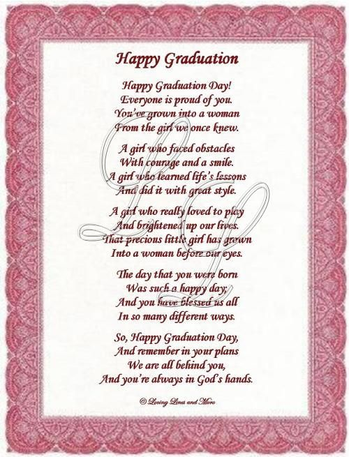 Graduation Quotes For Daughter Graduation Poem is for that special graduate who has grown into a  Graduation Quotes For Daughter