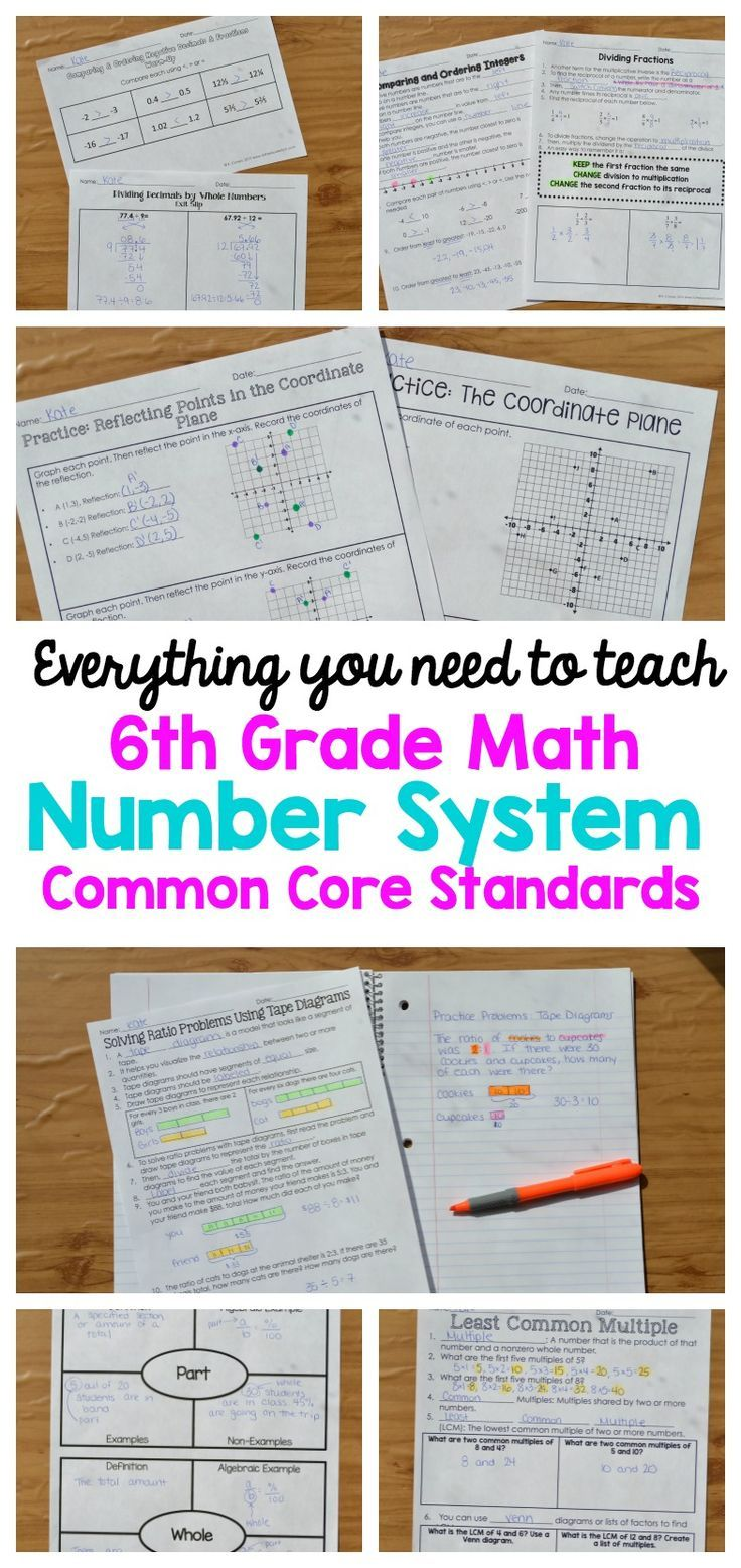 Everything you need to teach 6th grade math Number Systems