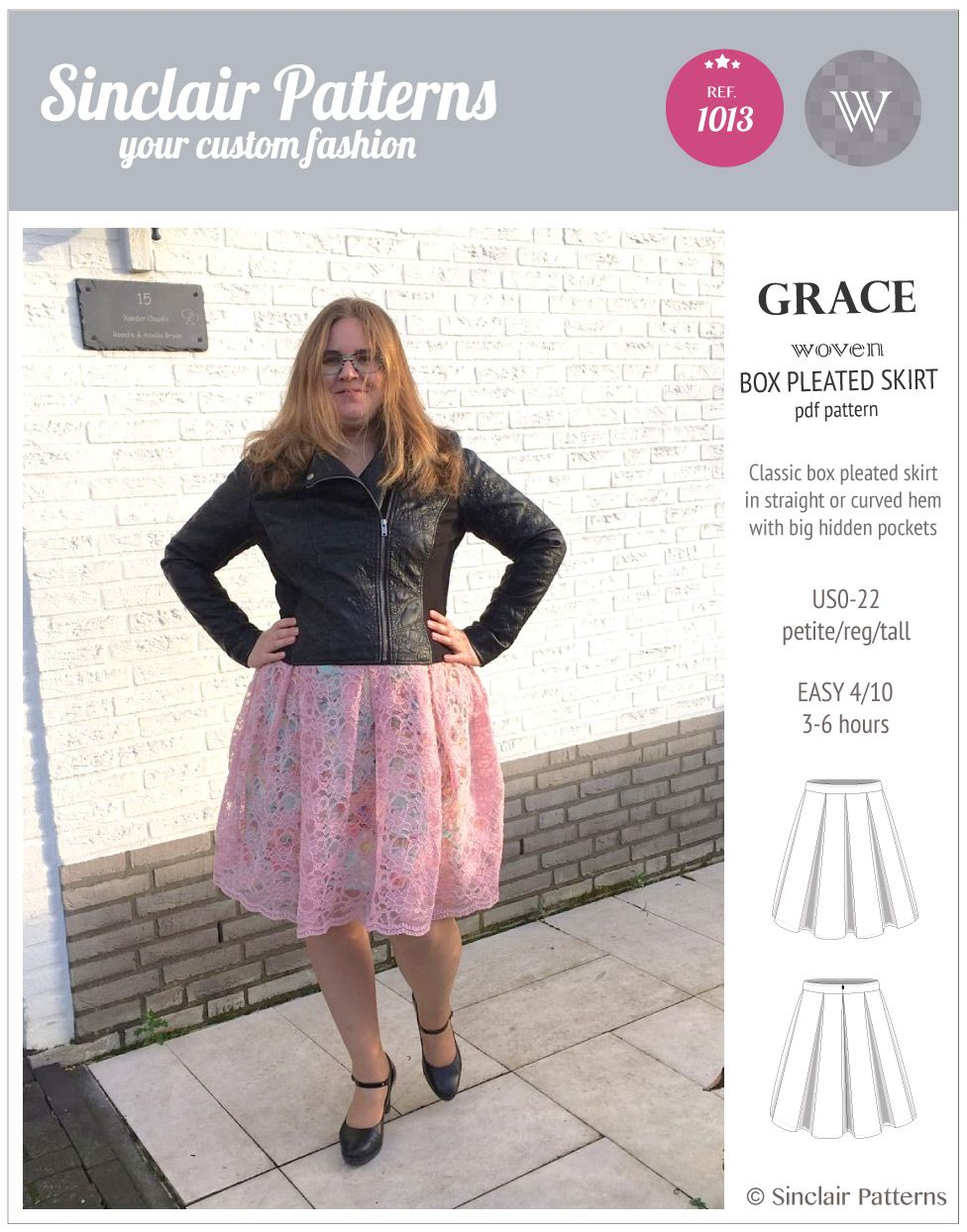 Grace Box Pleated Lined Woven Skirt With Pockets Pdf Skirts With Pockets Skirts Versatile Skirt