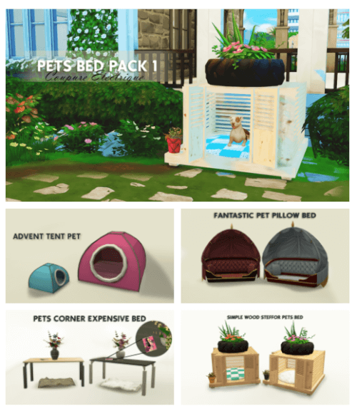 Pet Beds Pack 1 For The Sims 4 The Sims 4 Downloads Cc