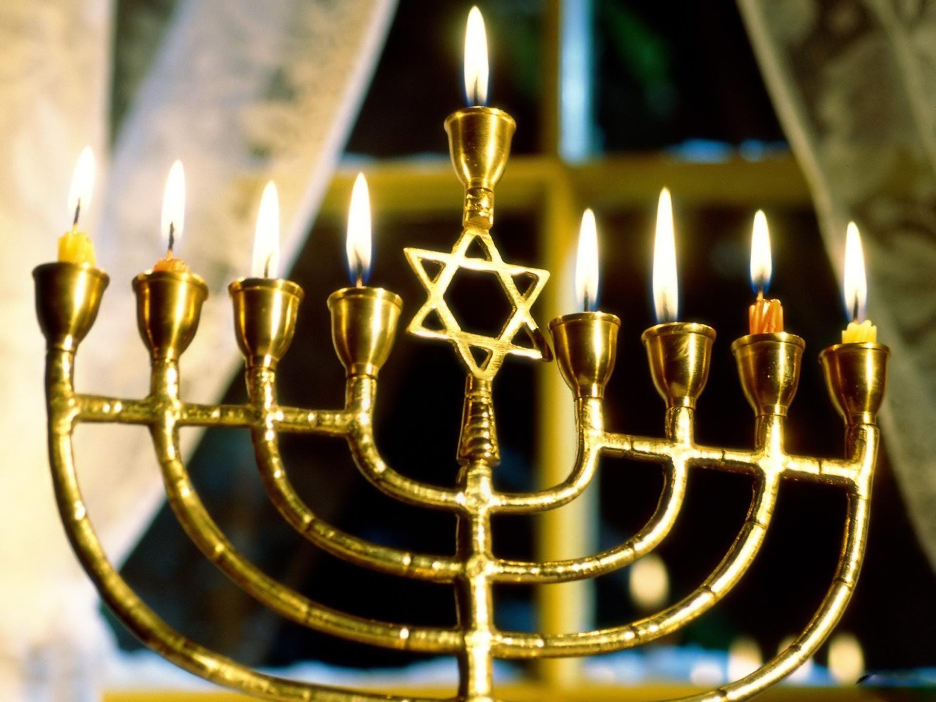 Shabbat Menorah   Hanukkah Desktop Wallpaper & Themes   Things to ...