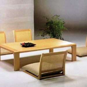 Japanese Dining Room Furniture With Low Table And Chairs Dinning