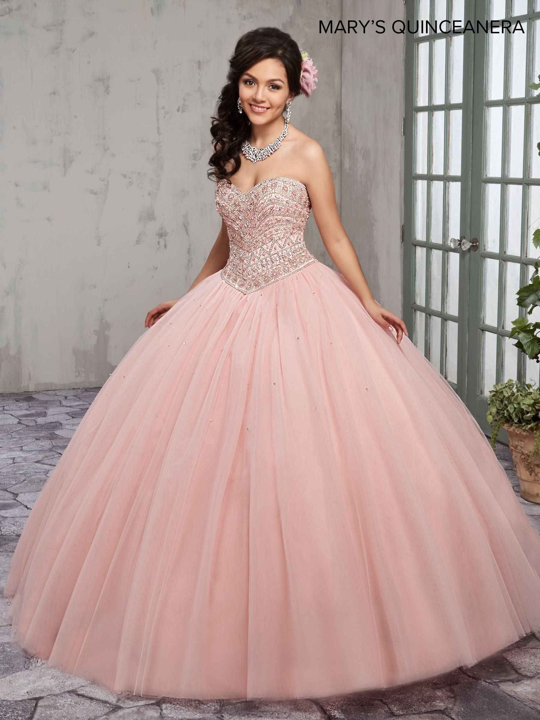 Beaded Strapless Quinceanera Dress by Mary\'s Bridal M4Q1006 ...