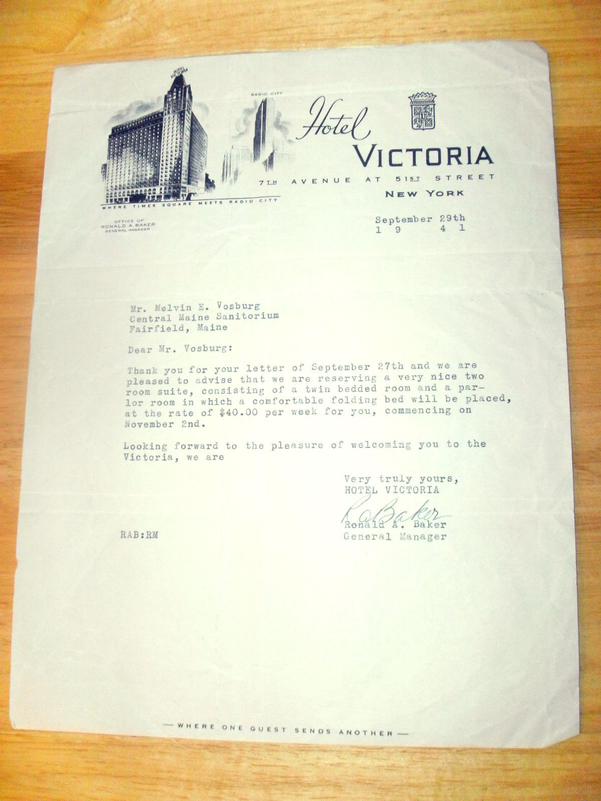 Cool Vintage Nyc Hotel Letterhead Greetings From Coney Island