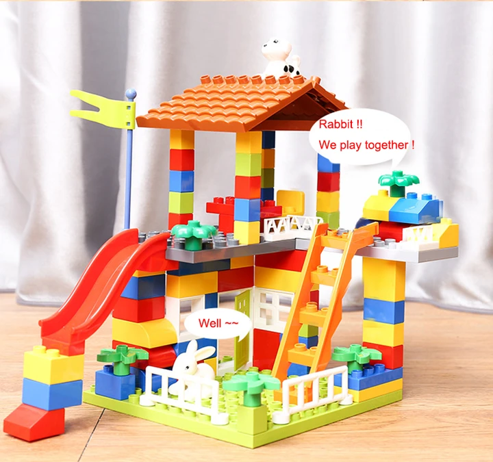 100X Building Blocks Toys for Early Education Toddlers Baby Gifts DIY City