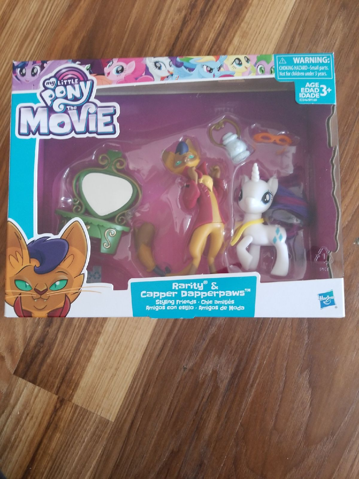 Hasbro My Little Pony The Movie Rarity /& Capper Dapperpaws Action Figure Playset