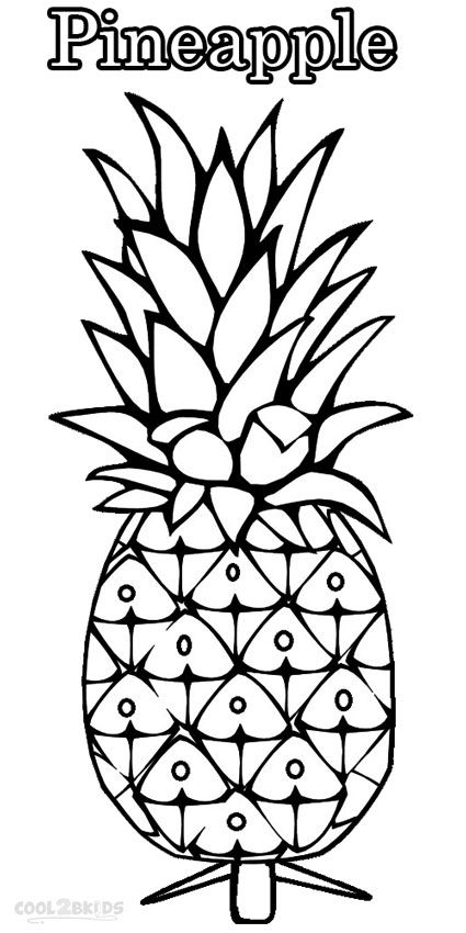 Pineapple Coloring Pages Fruit Coloring Pages Cute Coloring