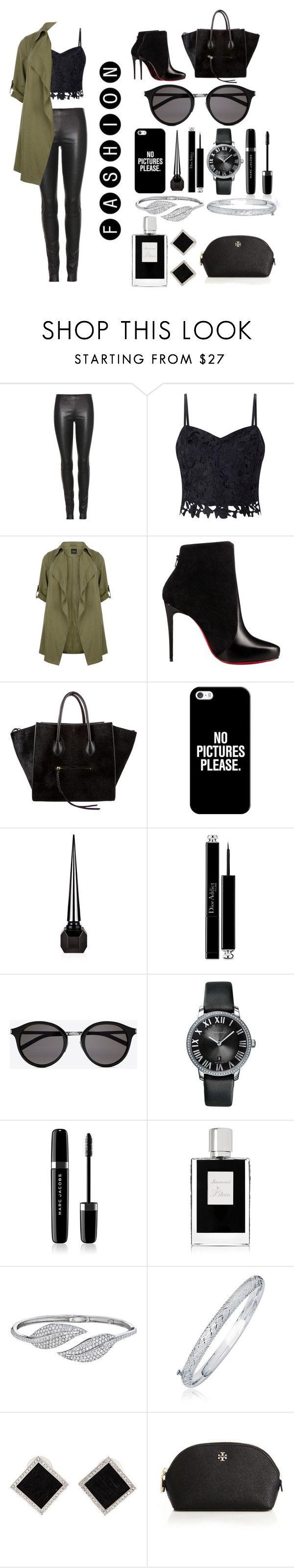 """No pictures please"" by margaery-tyrel ❤ liked on Polyvore featuring The Row, Lipsy, Christian Louboutin, CÉLINE, Casetify, Christian Dior, Yves Saint Laurent, Marc Jacobs, Kilian and Penny Preville"