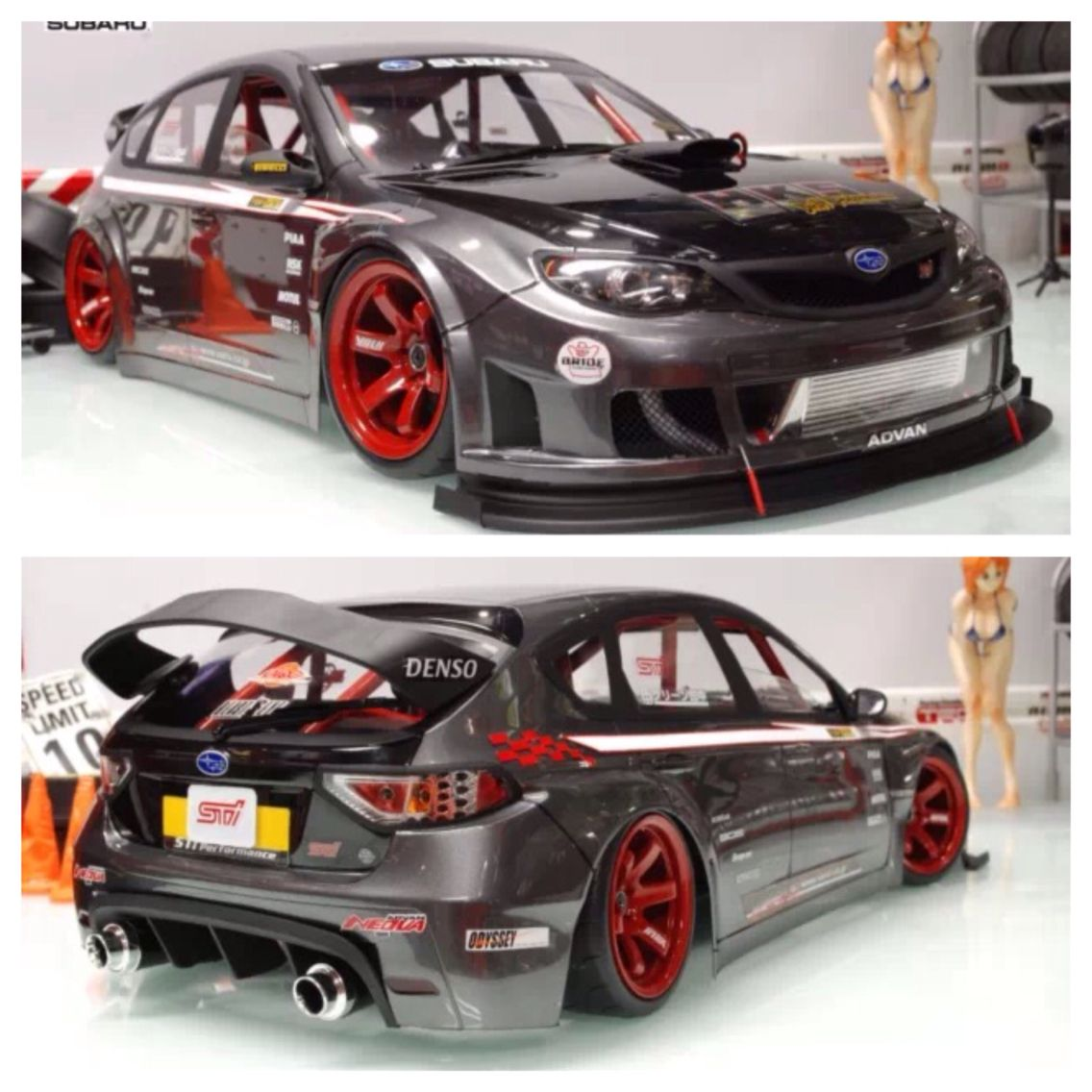 Subaru Impreza Sti Rc Drift Car Rc Cars Pinterest Cars