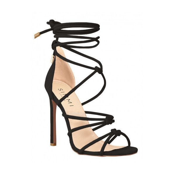 cedcfe74c9f Sierra Black Suede Knot Lace Up Heels   Simmi Shoes ( 9.39) ❤ liked ...
