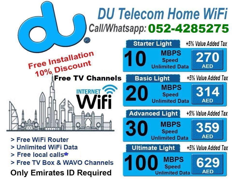 DU WIFI #HOME #INTERNET With Discount Packages ☆Free … | Du
