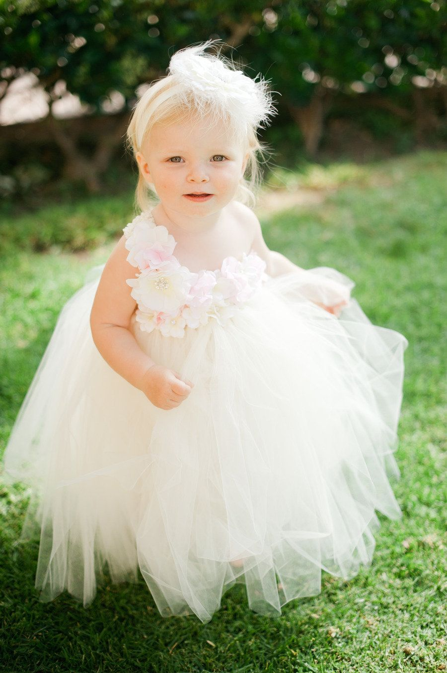 Beach wedding flower girl dresses  Santa Monica Wedding from Heather Kincaid  Flower Girl Dresses