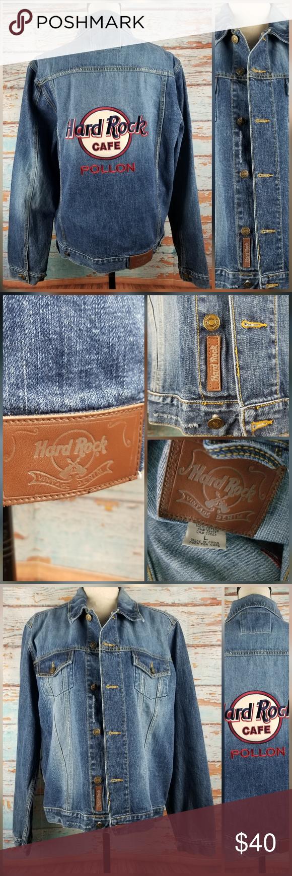 Hard Rock Cafe Logo Denim Jean Jacket Sz L Hard Rock Cafe Denim Jean Jacket Sz L 100 Cotton 23 Underarm To Underarm 25 Denim Jean Jacket Cafe Jacket Jackets [ 1740 x 580 Pixel ]