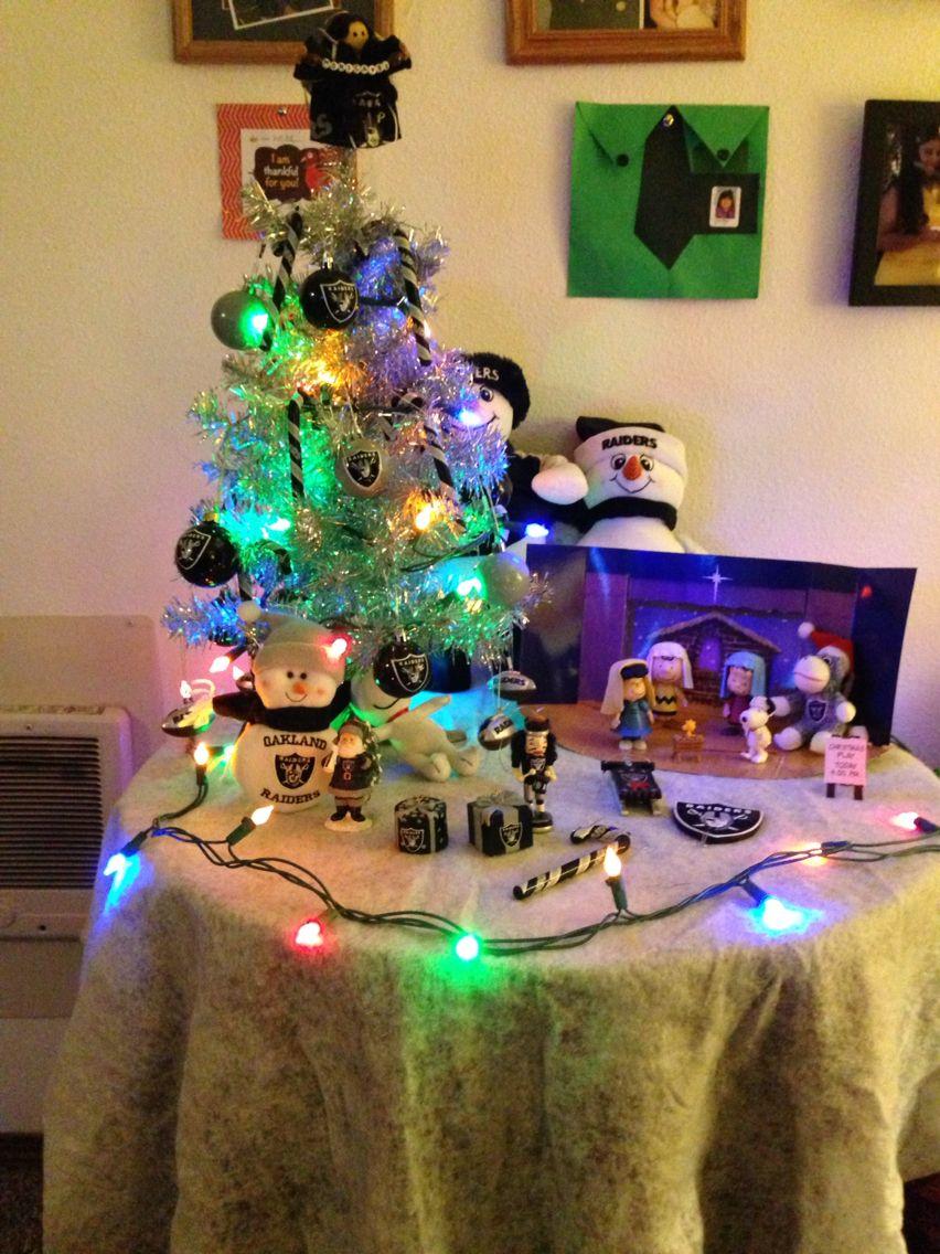 Our Raiders Christmas Tree!! | Raiders stuff | Pinterest | Raiders ...