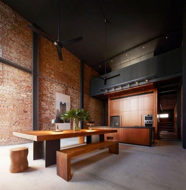 Loft Wohnung Hohe Decke Gestalten Urban Look Wand Ziegel Lucky Shophouse