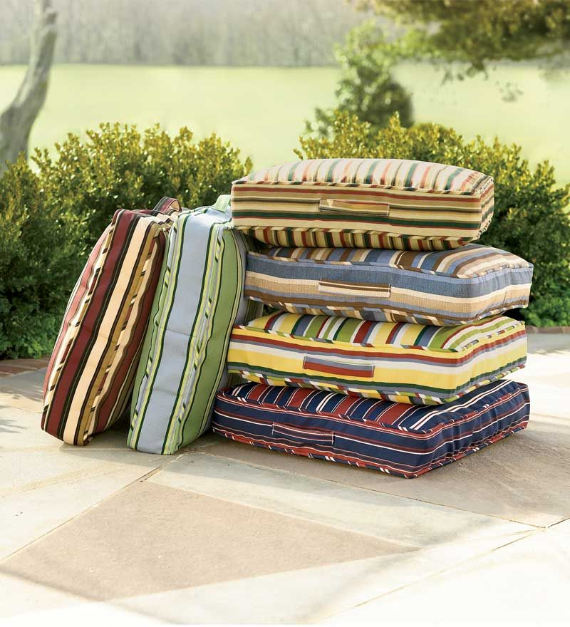 Toss an Outdoor Floor Cushion anywhere on your deck, patio or by the pool to create comfortable ...