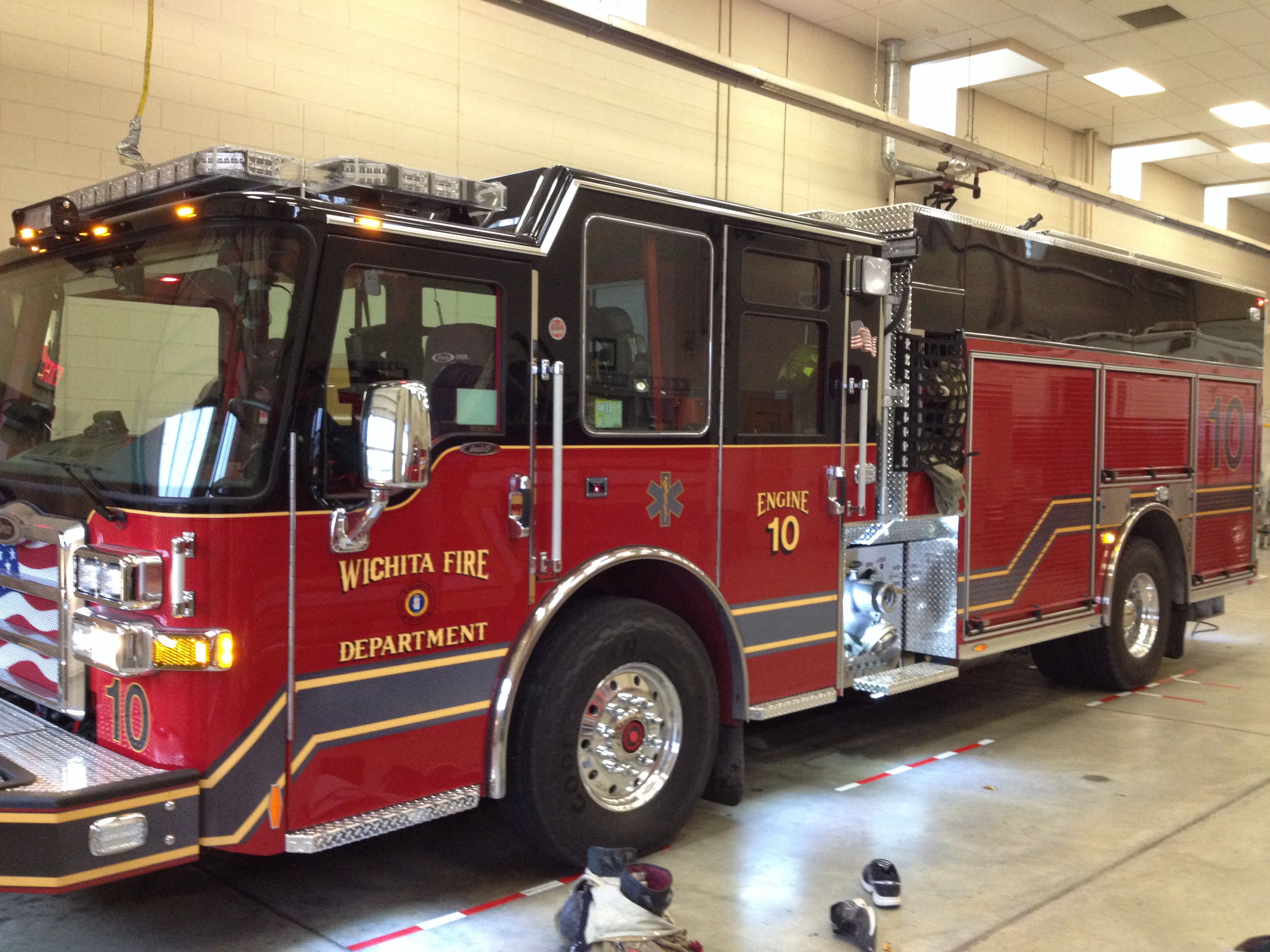 I'm driving my new fire engine today. Wichita Fire