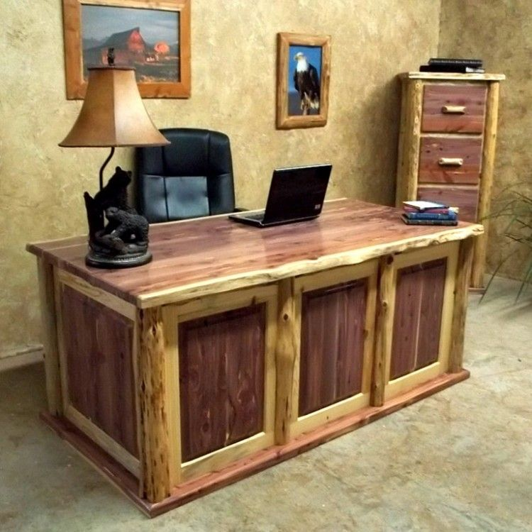 Red Cedar Desk With Panel Inserts