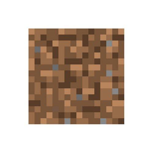 "5"" x 5"" Minecraft Dirt Block Vinyl Wall Decal | Minecraft ..."