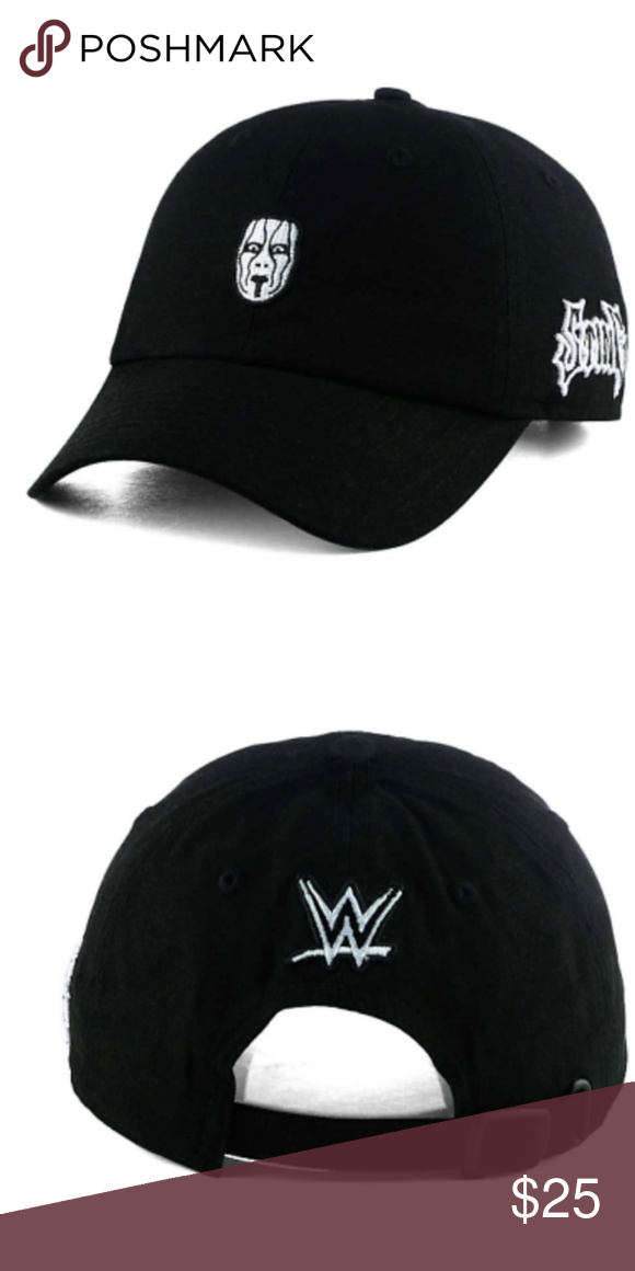 bcf8c81fd3 WWE WRESTLING DAD HAT WWF WCW STING Sting WWE Dad Hat Brand New Officially  Licensed Tags