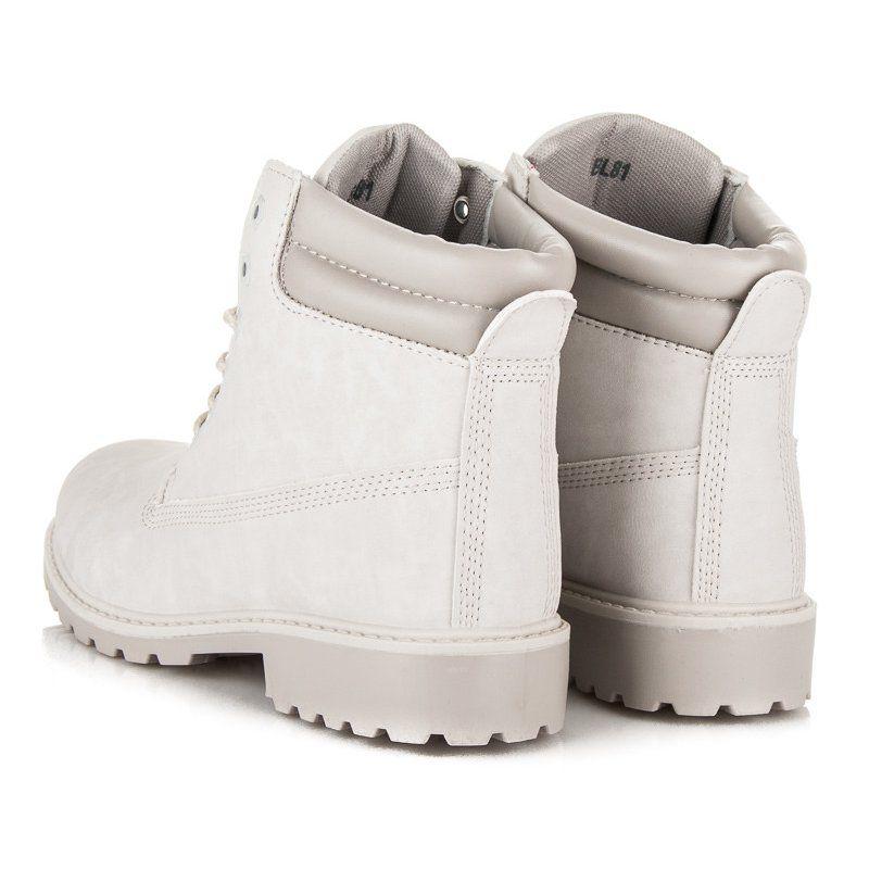 Seastar Botki Damskie Traperki Szare Boots Wedge Sneaker Timberland Boots