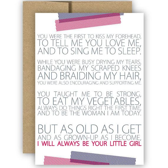 Fathers Day Card from Daughter Gift For Dad Dad Card Dads Day