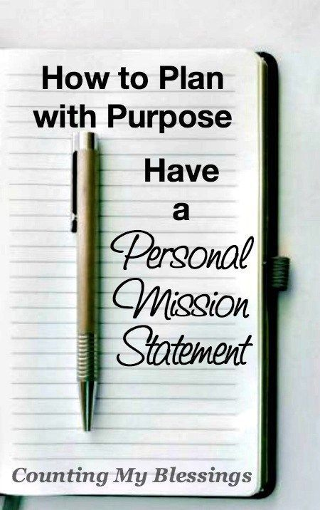 How To Plan With Purpose Have A Mission Statement  Purpose