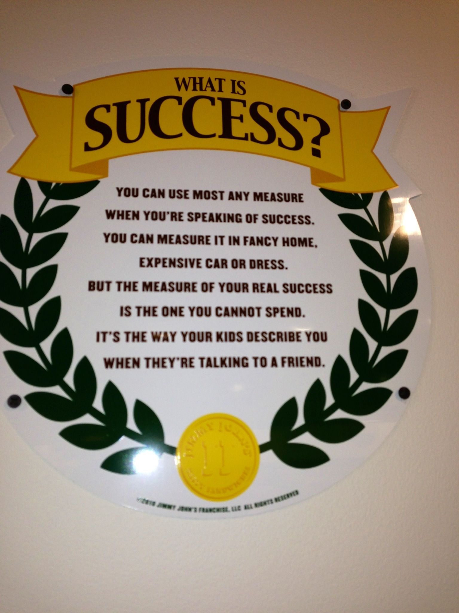 """""""What is success? You can use most any measure when you're"""