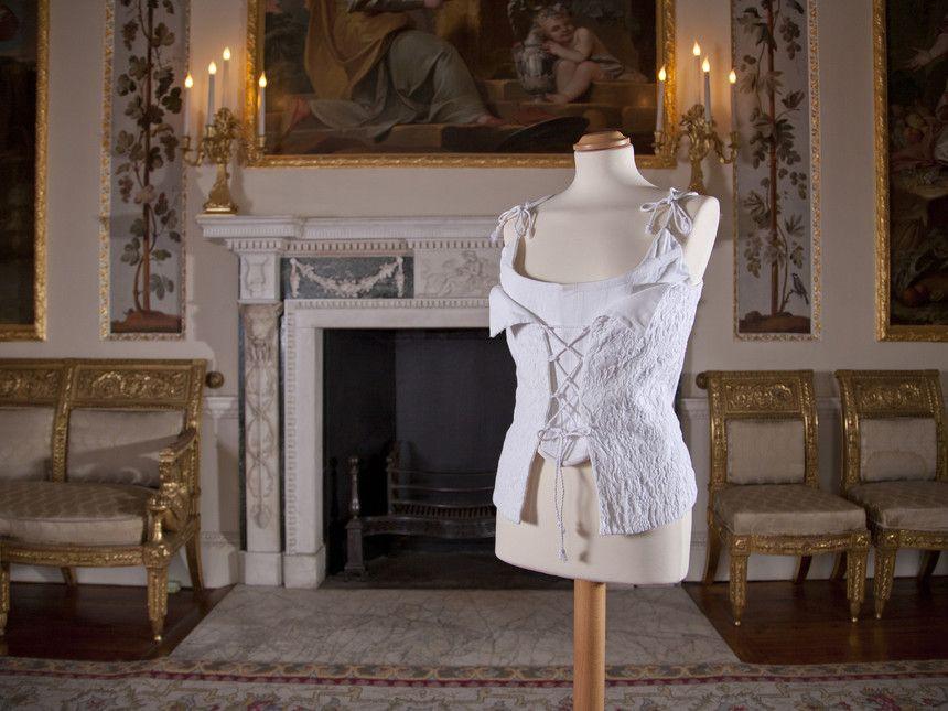 Vivienne Westwood, Wedding corset, Boned cotton pique, 1995, Private collection, Photographed at Danson House, Kent by Daniel Luke