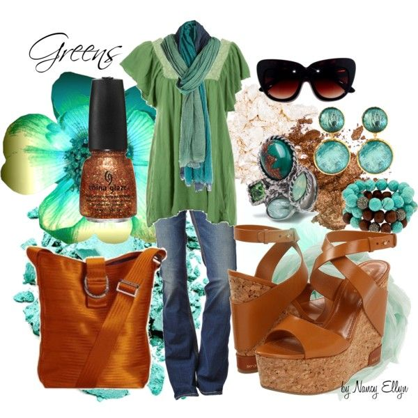 Greens~Caramel~Denim