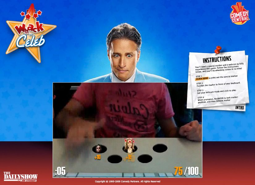 Miami Ad School // Whack-a-Celeb // Advergame for Comedy Centrals John Stewart // Check out http://arildium.com/swf/WhackaCeleb2.swf for full demo // With Rafa Andrade