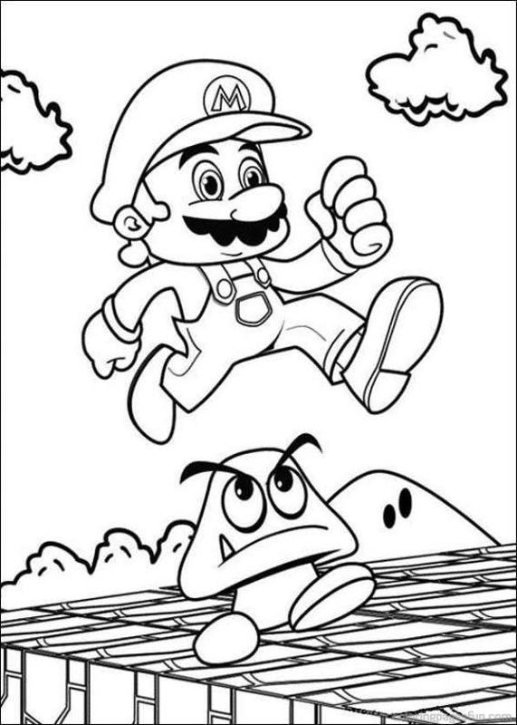Super Mario Bros Coloring Pages 36 | homemade products | Pinterest ...