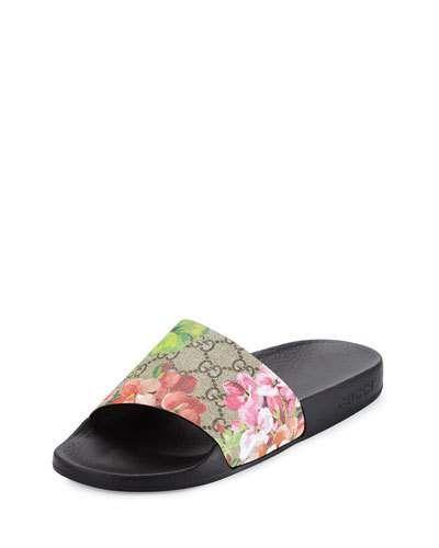 d4dd8c55312 Gucci GG Blooms Supreme Slide Sandals