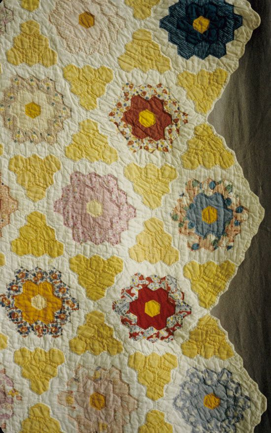 The Quilt Index - look at this amazing hexagon quilt!