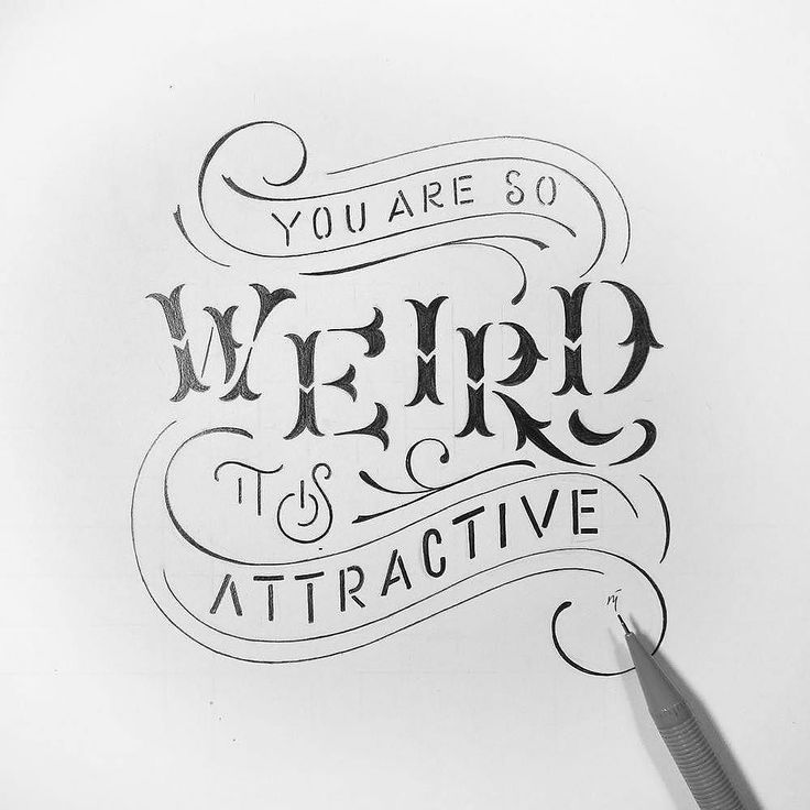When weird is attractive you have something special. Type by @novia_jonatan | #typegang if you would like to be featured | typegang.com | typegang.com #typegang #typography
