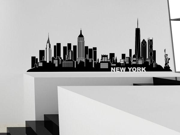 Wandtattoo New York Skyline Silhouette Ny Wandtattoos De Skyline Wandtattoo New York