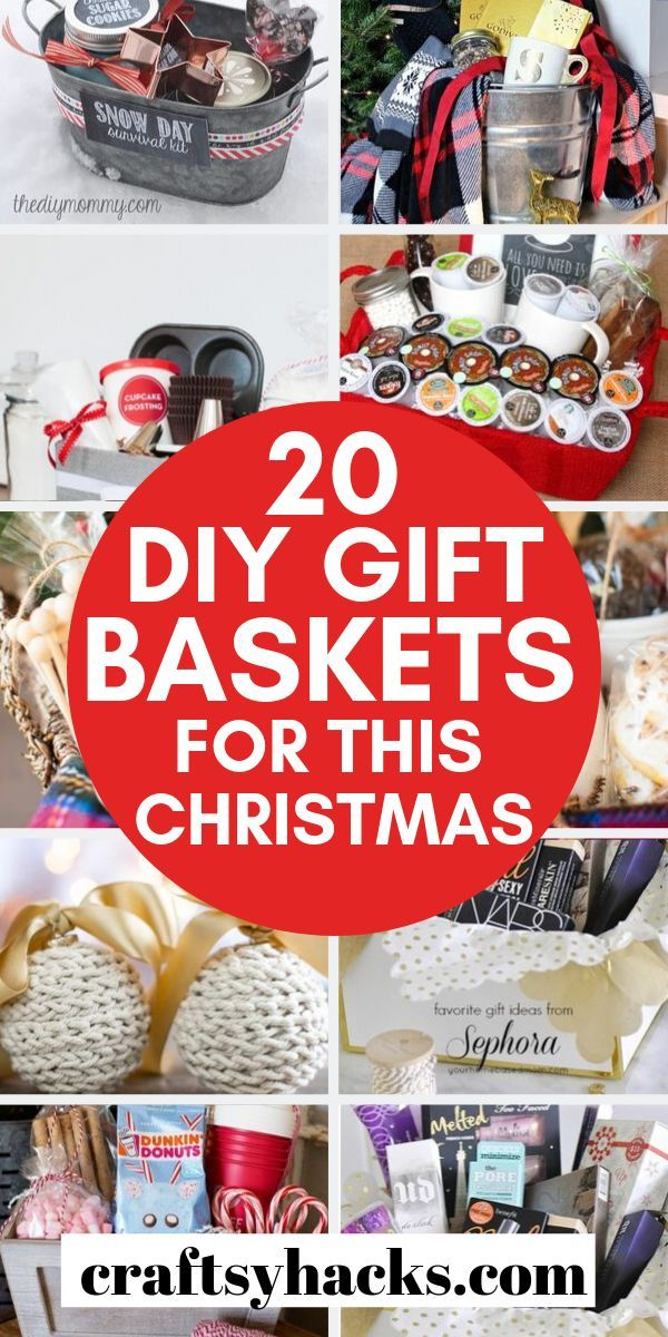 These Christmas gift baskets are perfect gifts for someone for Christmas – wheth…