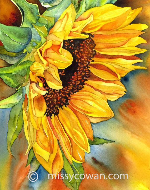 Sun Diva Giclee Print Of Original Watercolor Painting Arte Del