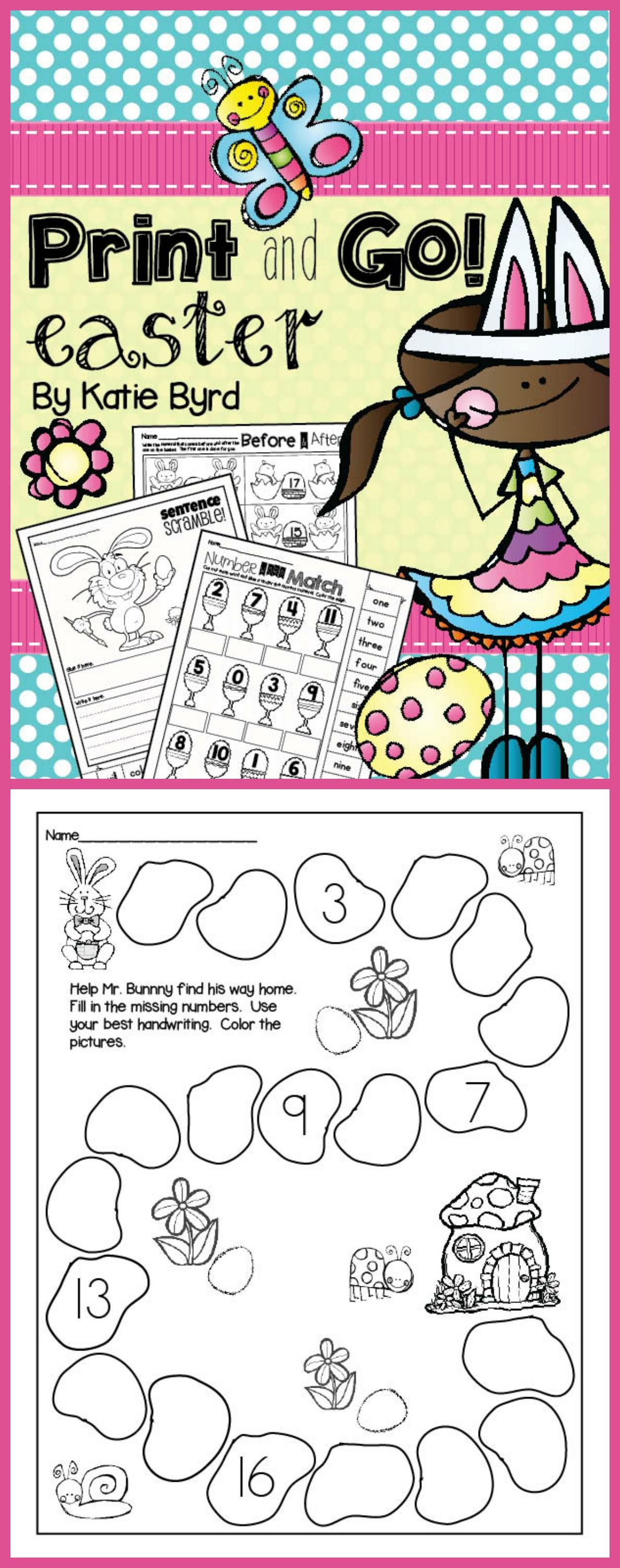 Print And Go Easter Math And Literacy No Prep