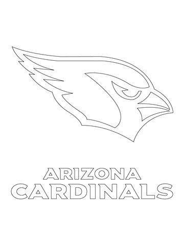 Arizona Cardinals Coloring Pages Arizona Cardinals Arizona Cardinals Logo Sports Coloring Pages