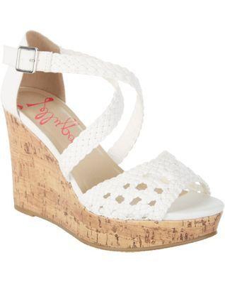 Jellypop Womens Monique Wedge Sandals
