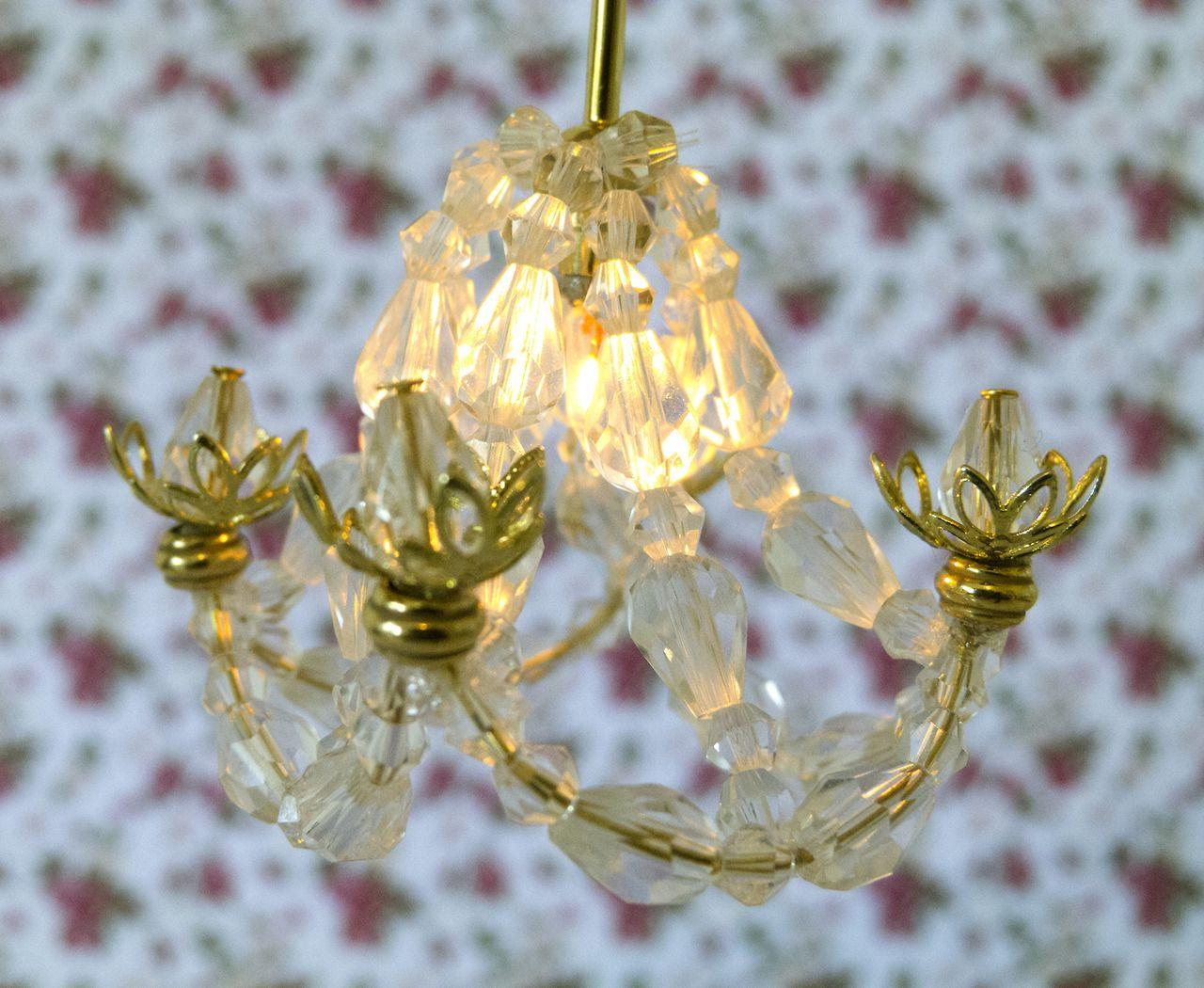 Miniature crystal ornaments - Petitepursuits Diy Miniature Crystal Chandelier