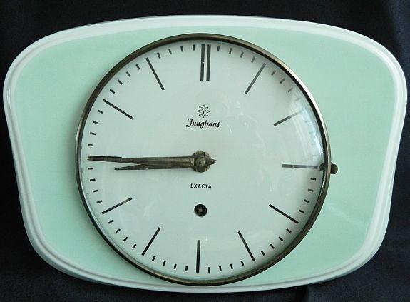 Küchenuhr Junghans ~ Junghans pink retro vintage ceramic kitchen german wall clock