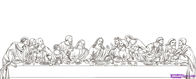 Leonardo Da Vinci The Last Supper Coloring Page preschool classical