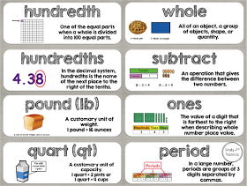 FREEBIE Fourth grade common core math vocabulary word wall cards ...