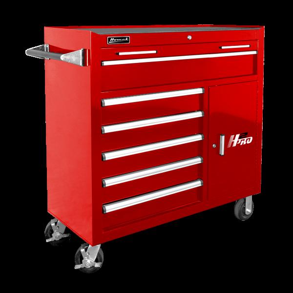 Homak 41 H2pro Roller Cabinet Black Blue Red Metal Tool Box