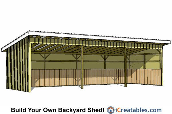 how to build a lean to shelter for horses